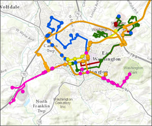View online route map